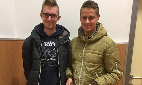 Tin Novak in Luka Vozlič, 3. mesto na Državnem tekmovanju elektro in računalniških šol (2017/2018)