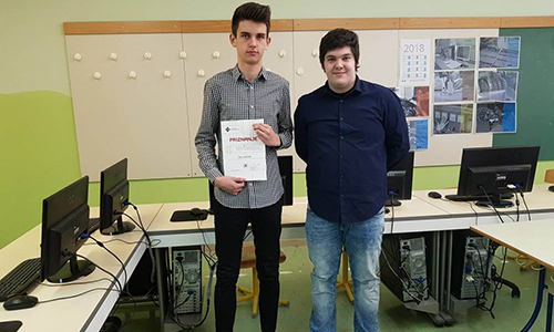 Žan Horvat, 2. mesto na Državnem tekmovanju ACM v izdelavi spletnih aplikacij (2017/2018)