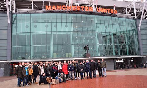 Stadion Old Trafford v Manchestru