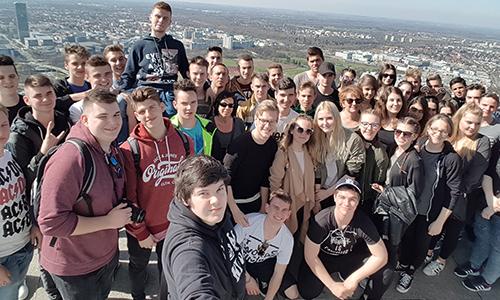 »Selfie« na vrhu Münchna, stolp Olmypiaturm München