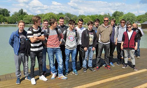 Na obali Blatnega jezera v mestu Keszthely