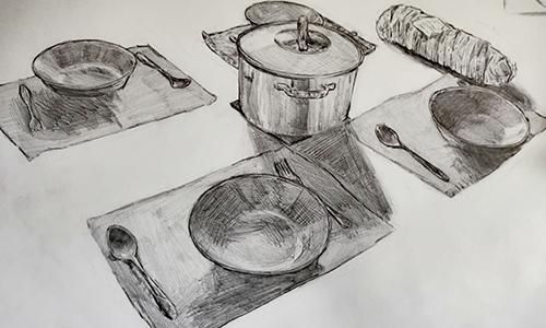 Vsakdanji predmeti, risba